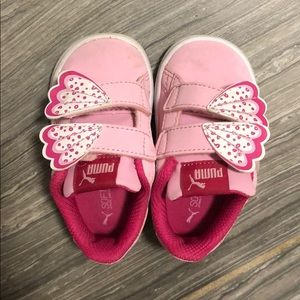 Puma baby girl pink sneaker size 5